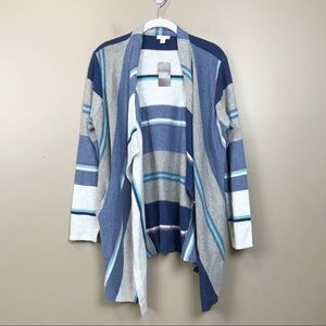 New With tags J.Jill striped open cardigan sweater